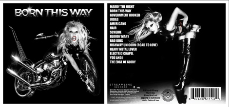 BORN THIS WAY TRACKLISTING FOR THE ORIGINAL ALBUM 5.23.11